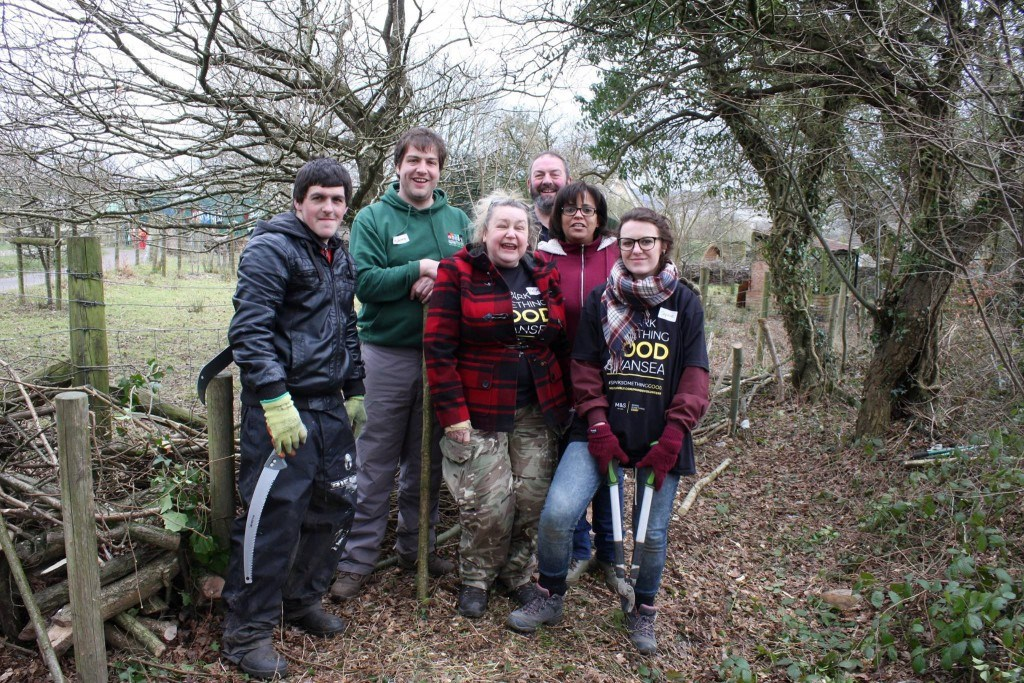 The Conservation Volunteer Team at Swansea Community Farm