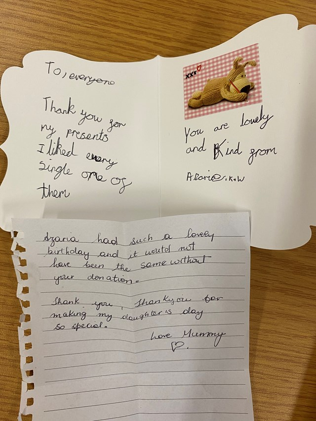 park life community cafe thank you letter covid heroes