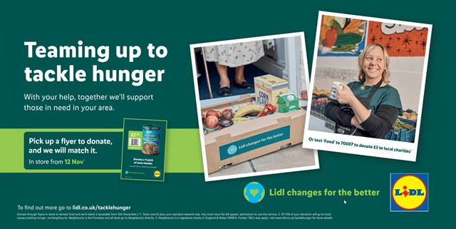 Lidl Tackling Hunger Flyer