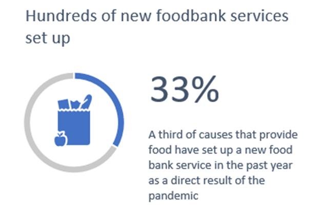 33% new food banks april 2021